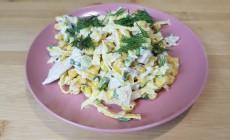 Готовим вкусный салат с блинчиками из яиц