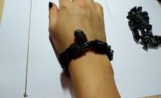 Сделала гематитовый браслет своими руками