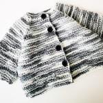 Мастер-класс по вязанию спицами кофты для новорожденного 0-3 месяцев