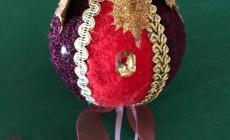 Делаем елочную игрушку из пенопластового шара