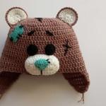 Вяжем шапку «мишка Тедди» крючком