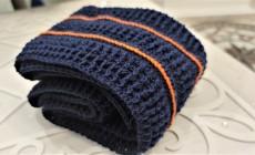 Как связать мужской шарф крючком?