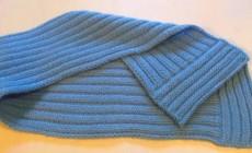 Вяжем спицами шарф для мальчика и девочки