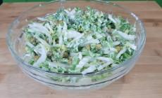 Домашний майонез и легкий салат из пекинской капусты