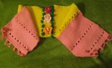 Вяжем детский шарф крючком