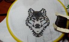 Мастер-класс по вышивке волков крестом