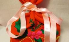 Новогодний подарочный мешок для подарков от Деда Мороза