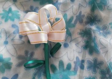 Мастер-класс по вышивке пионов лентами