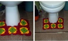 Вяжем коврик для ванной крючком