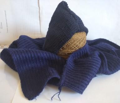 Как связать шарф-капюшон?