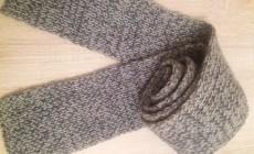Мастер-класс по вязанию спицами мужского шарфа