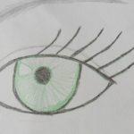 Сначала рисуем глаз