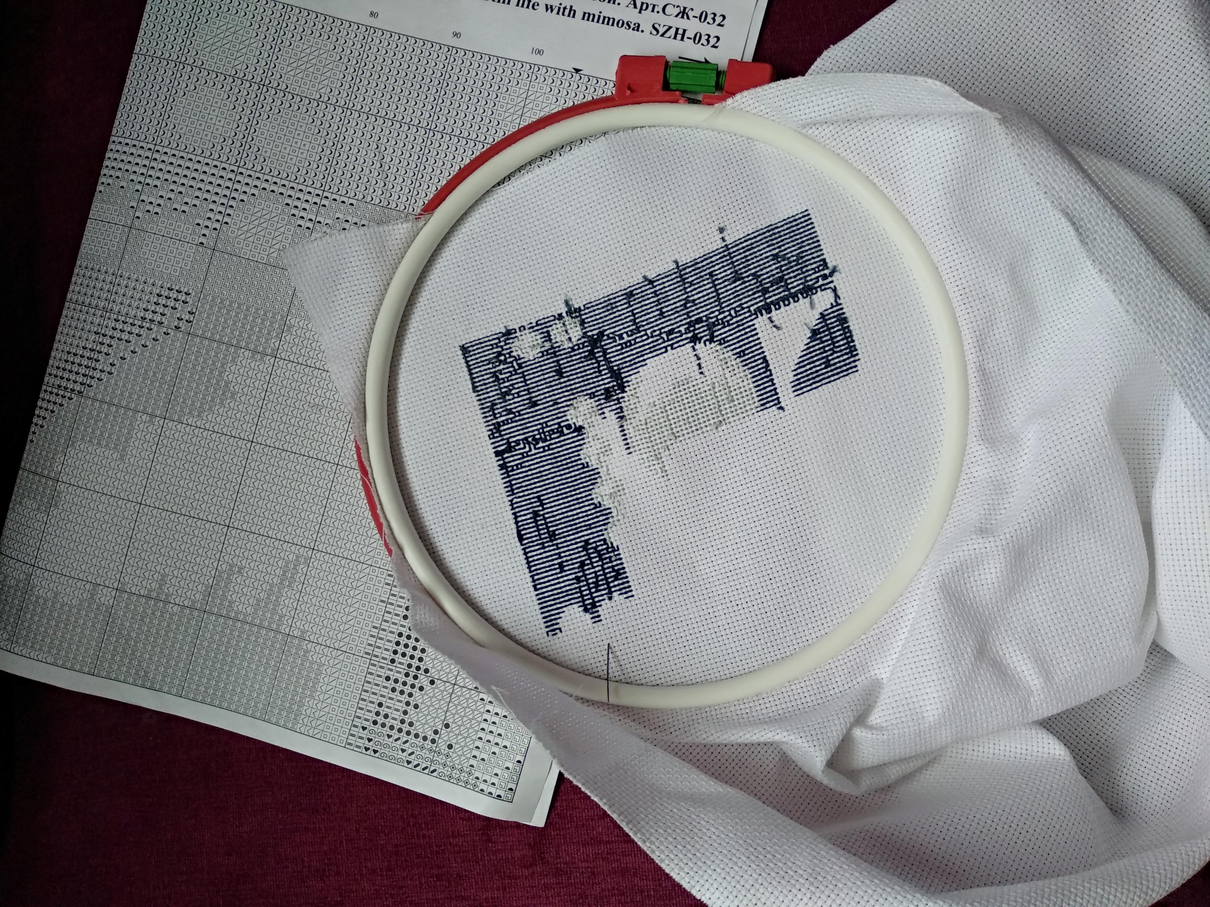 изнаночная сторона вышивки