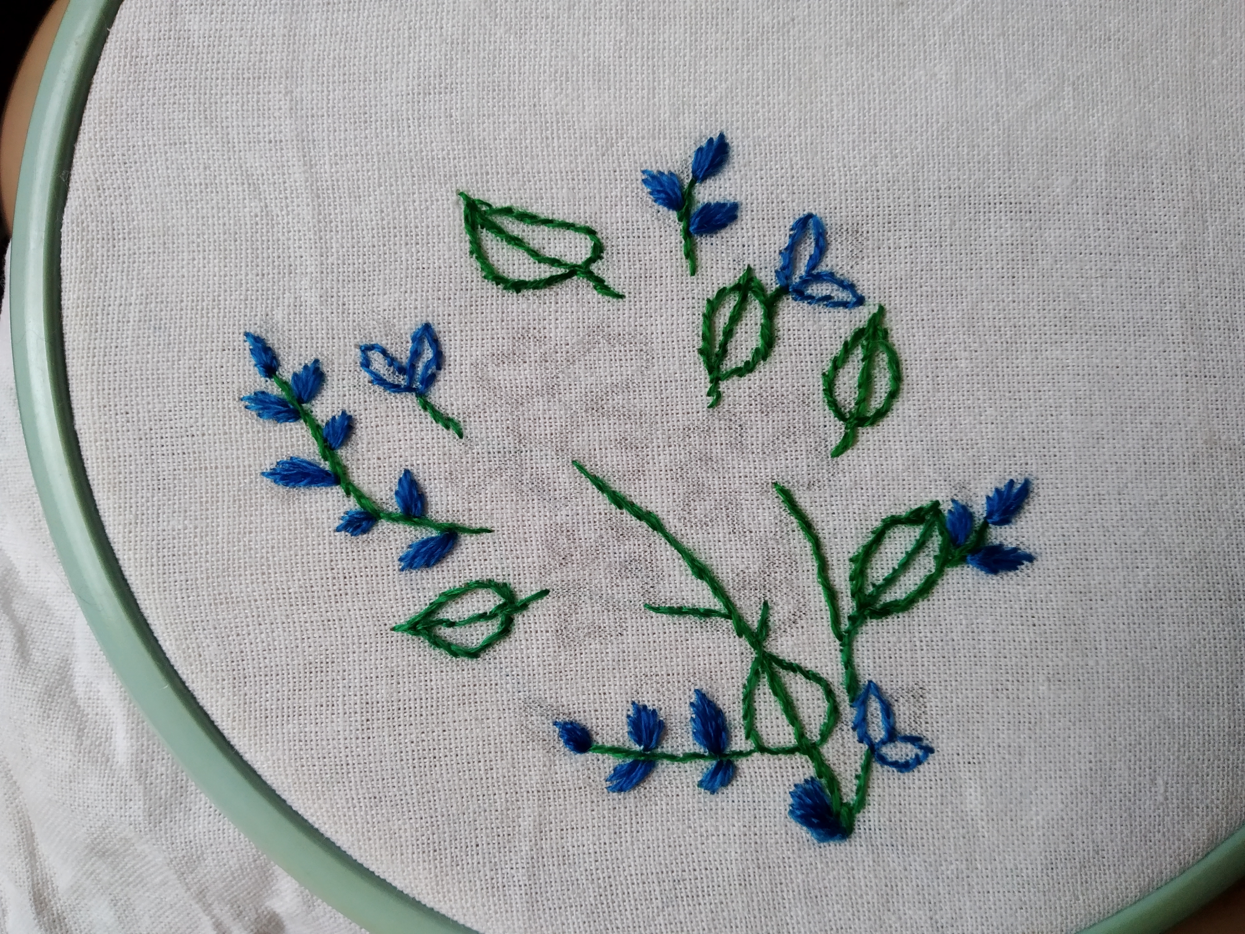 вышиваем цветы
