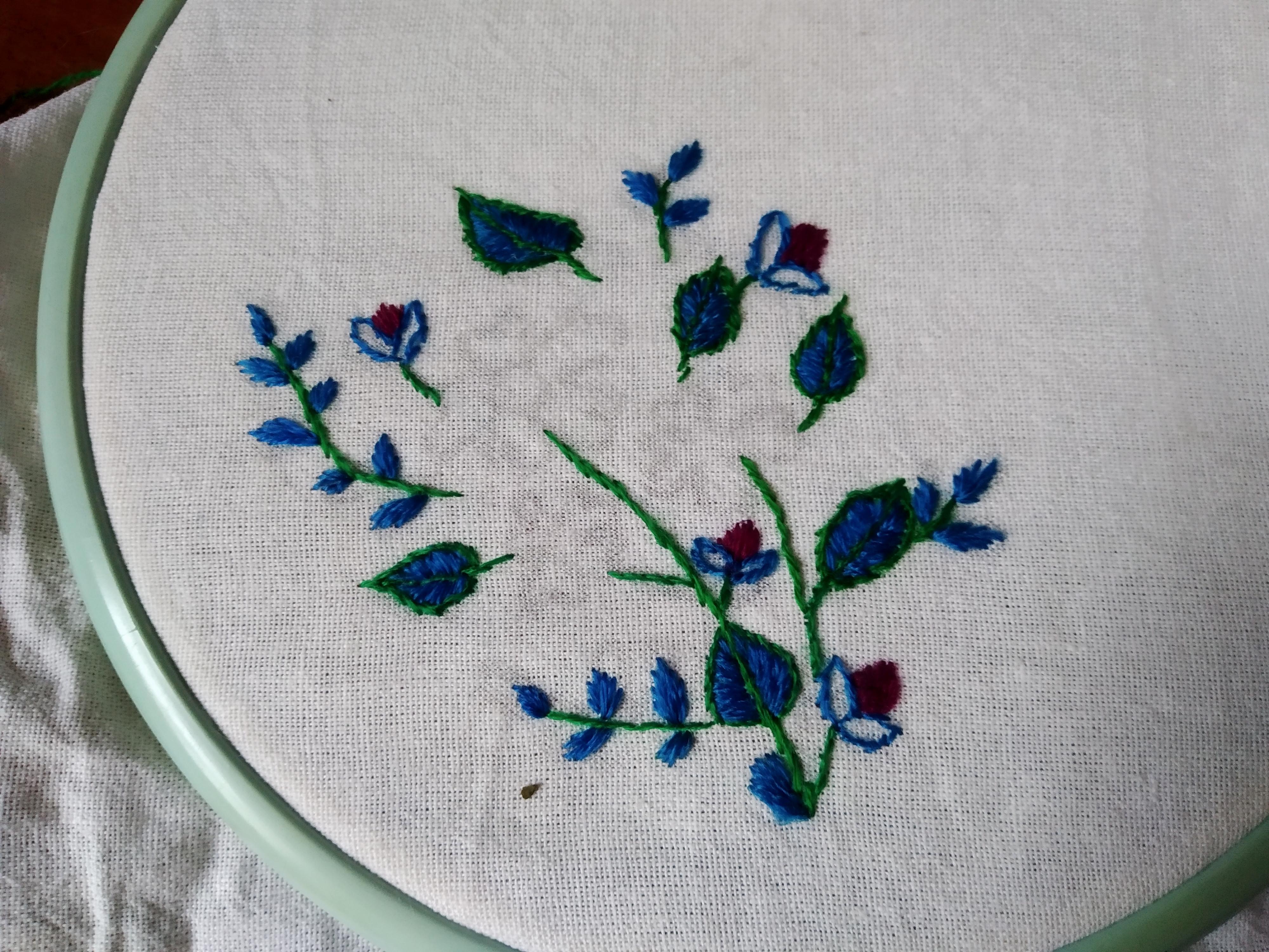 заполняем цветом листики