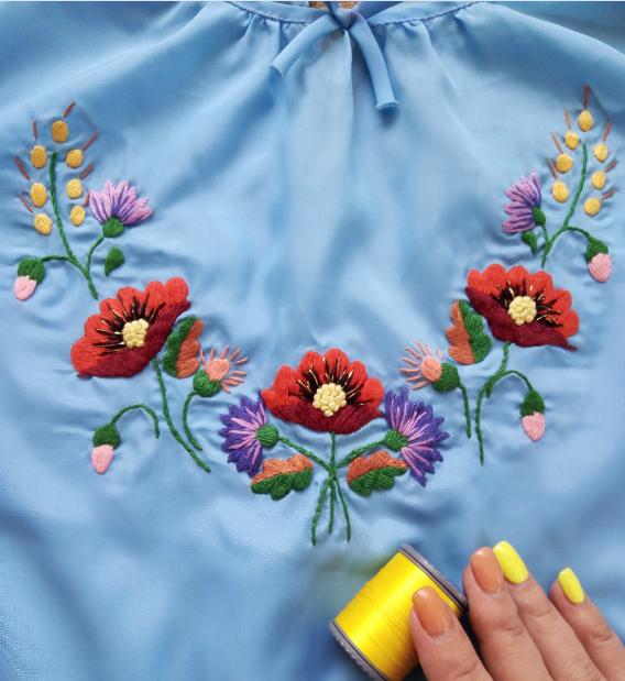 Примеры вышивки на футболке своими руками