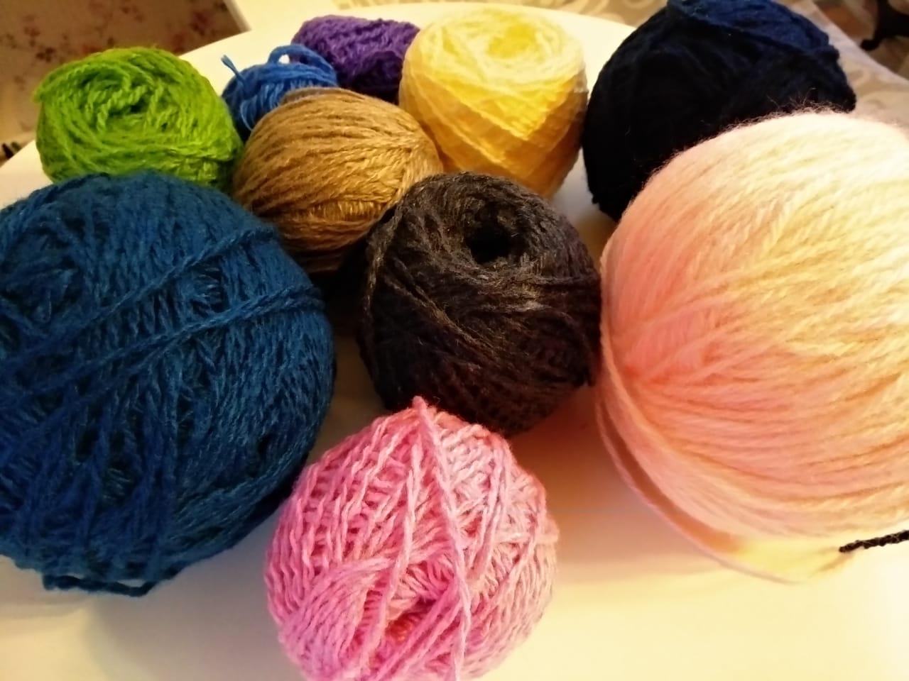 Мастер-класс вышивки по вязаному полотну
