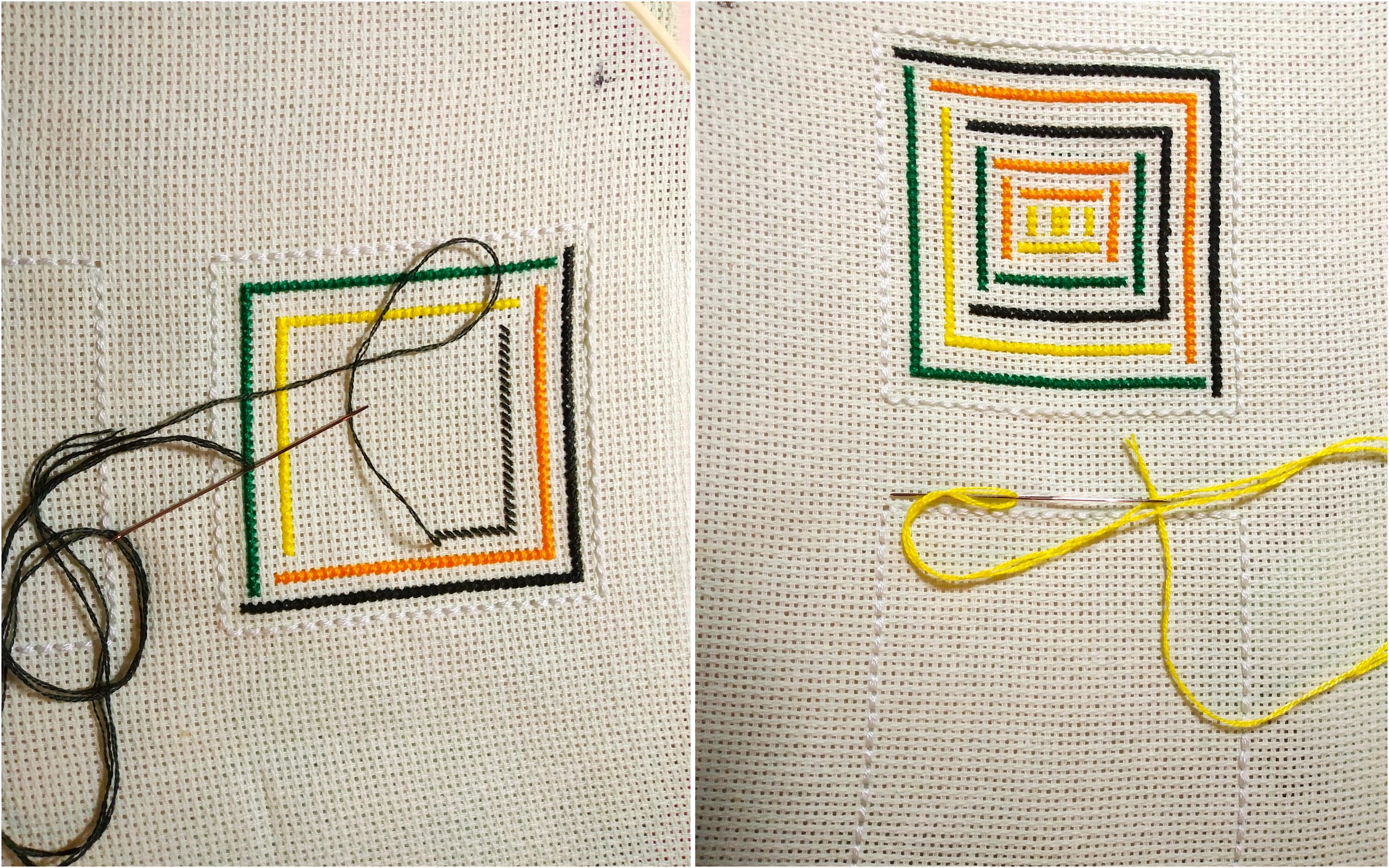 Мастер-класс по вышивке бискорню крестом со схемами и этапами работы