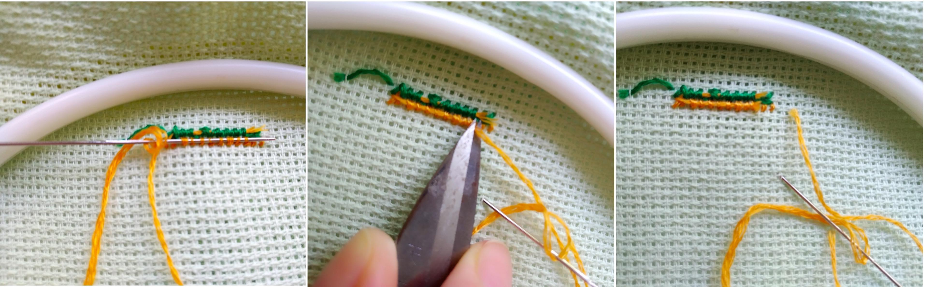 Мастер-класс, как закрепить нитку при вышивке крестом в начале и в конце без узелков