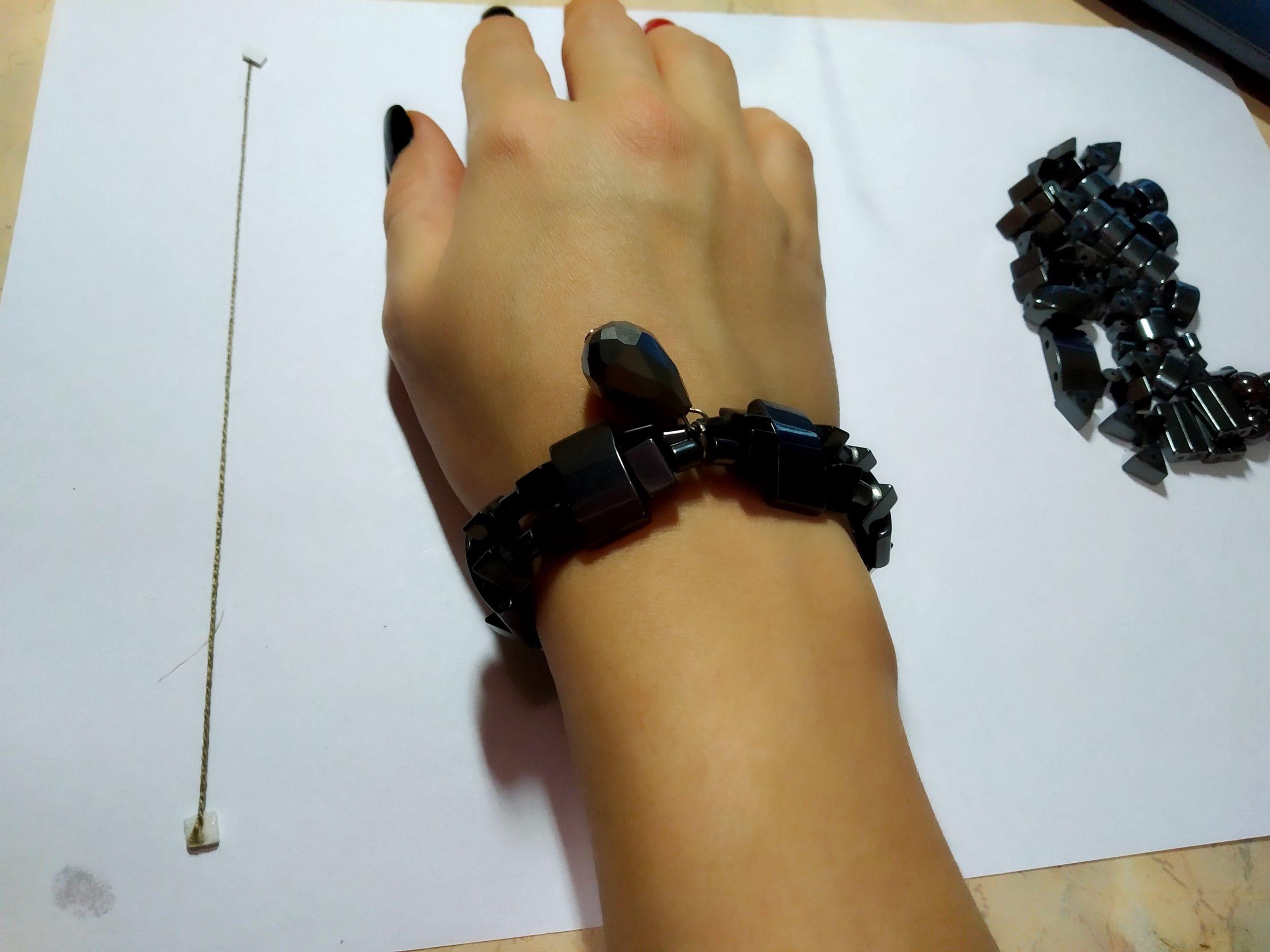 Гематитовый браслет своими руками