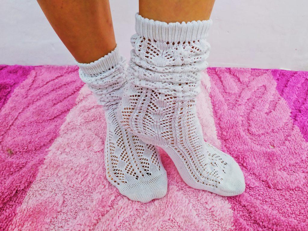 ажурные носки вязание