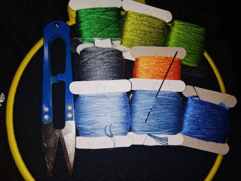 набор для вышивания васильков