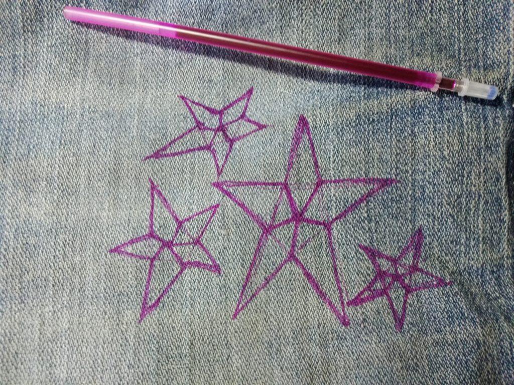 Пошаговая инструкция, как вышить звезду на ткани