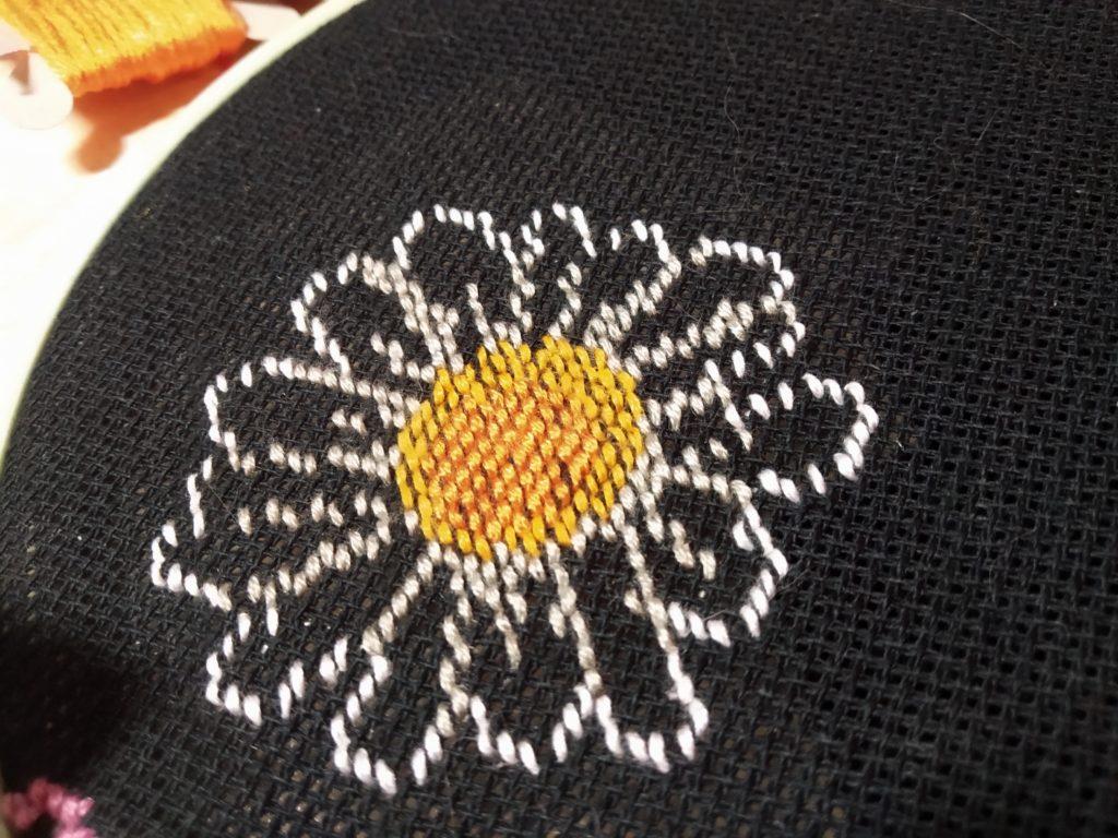 Вышиваем красивую ромашку