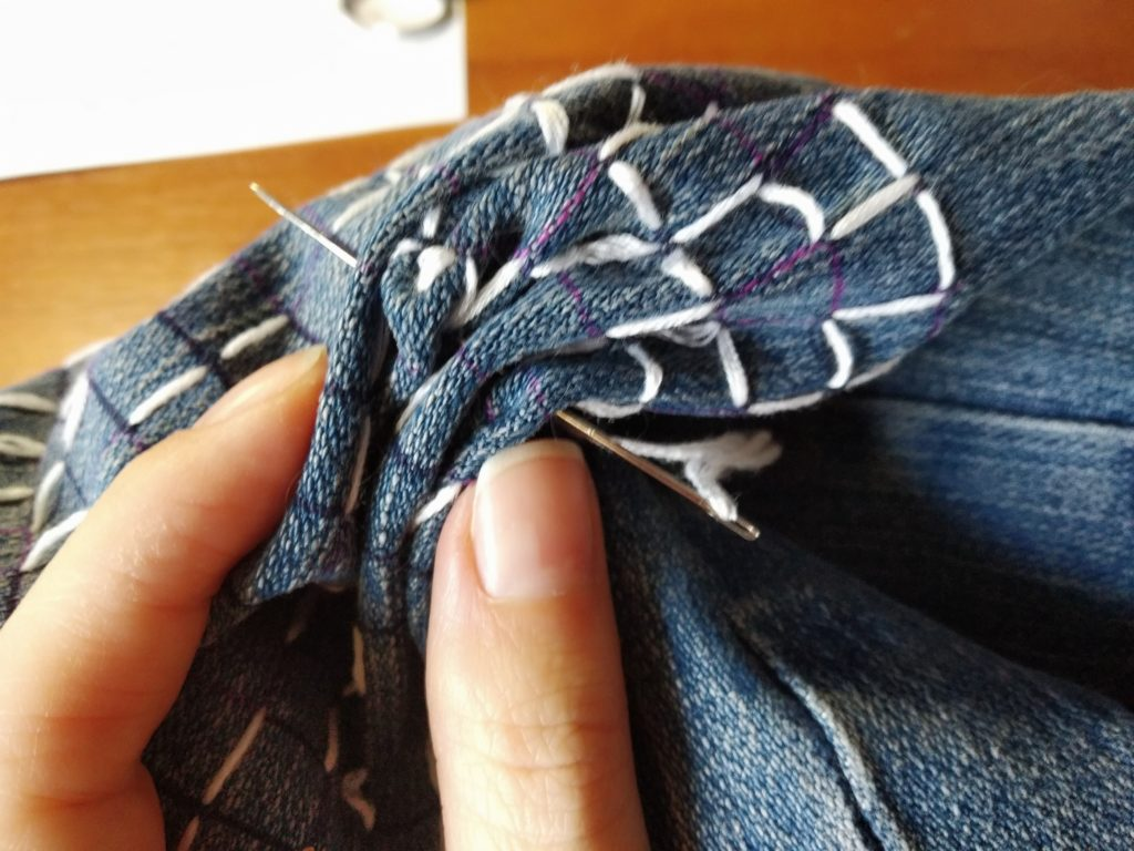 Мастер-класс по вышивке сашико
