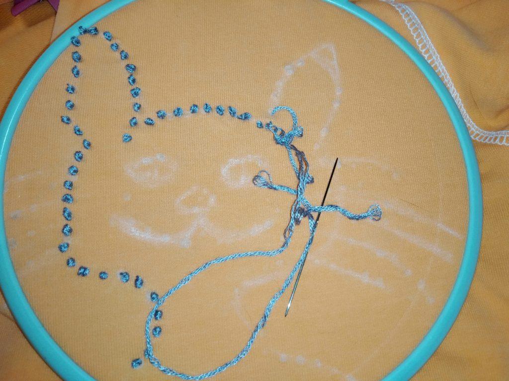 вышивка французским узелком