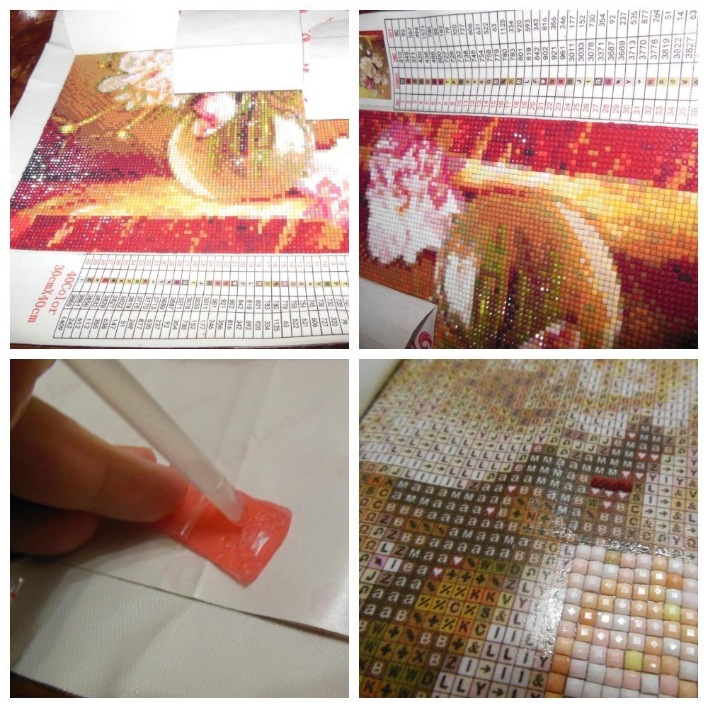 Как нужно правильно собирать алмазную мозаику?
