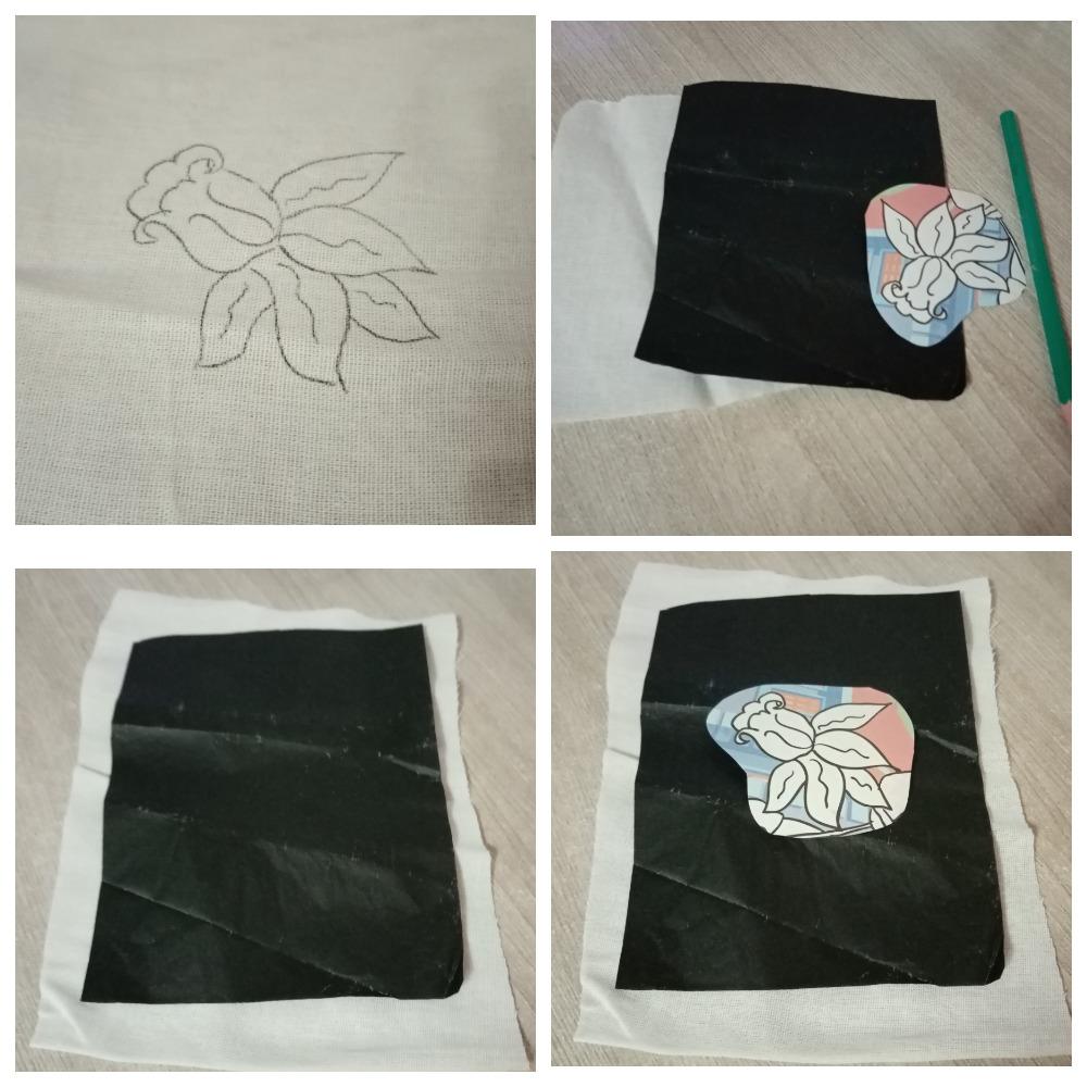 как перевести рисунок на ткань для вышивки