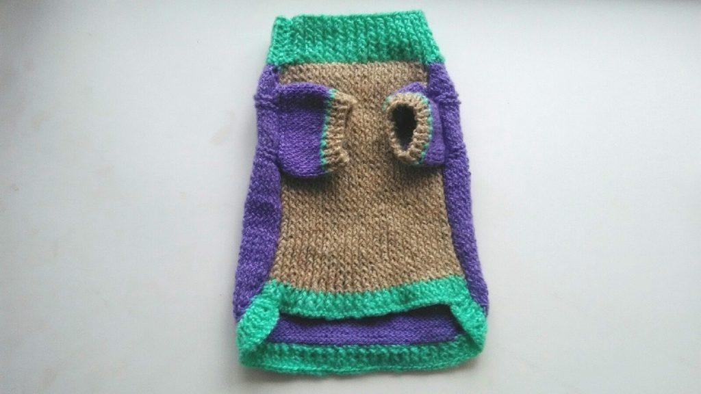 Вяжем свитер собаке спицами начинающим