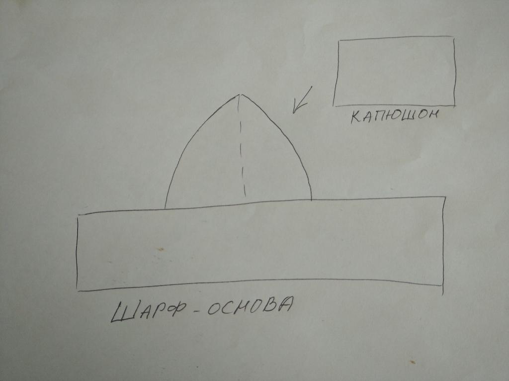 Шарф капюшон