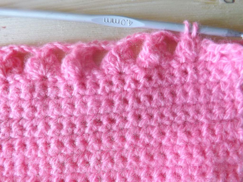 детский шарф крючком