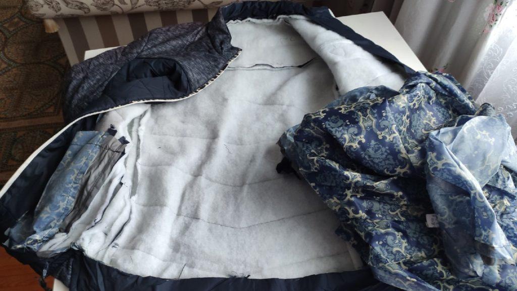 Сумка из куртки без молнии