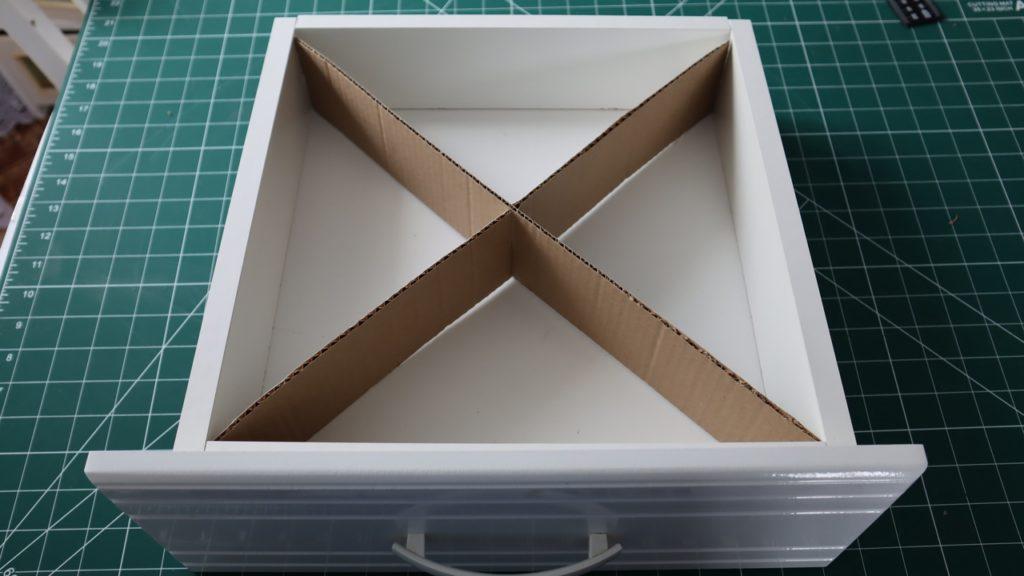 Три способа разделения ящика на ячейки.