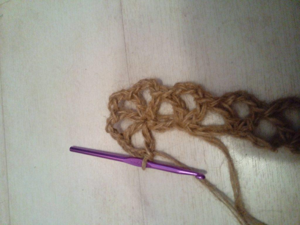 Как связать коврик из джута крючком?